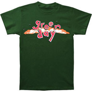 Green Day Men's  Dookie Logo Slim Fit T-shirt Green