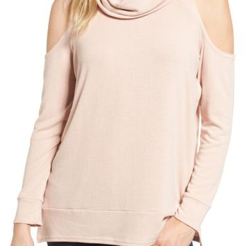 cupcakes and cashmere Malden Cold Shoulder Sweater | Nordstrom