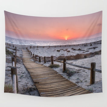 """To the beach...""Cabo de Gata"". Wall Tapestry by Guido Montañés"
