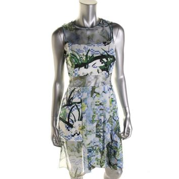 Timo Weiland Womens Silk Pleated Casual Dress