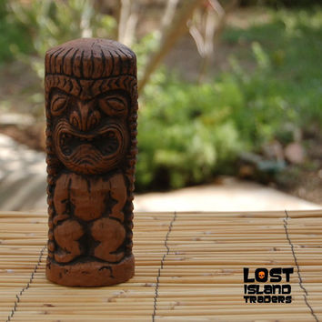 Hawaiian War God Tiki Statue