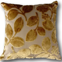 Tache Golden Boughs of Holly Throw Pillow Cushion Cover