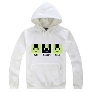 AnimeTown Dramatical Murder DMMD Noiz Anime Long Sleeves Hat Hoodie (L, White)