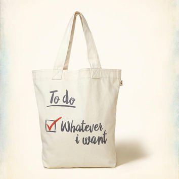 Girls Graphic Canvas Tote Bag | Girls Clearance | HollisterCo.com