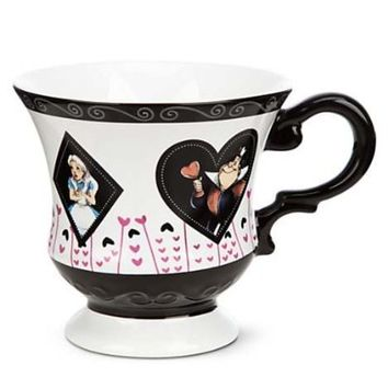 Disney World Parks Exclusive Mad Hatter Cheshire Alice Wonderland Tea Cup & Saucer Set - NEW