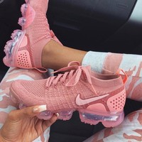 Nike Air Vapormax Flyknit 2.0 Fashionable Women Casual Running Sport Shoes Sneakers Rose Pink I/A