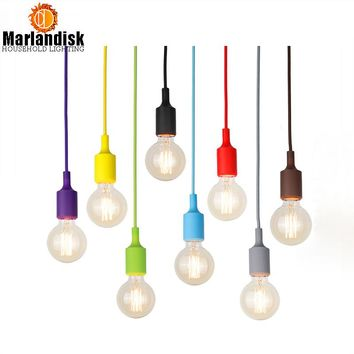 Colorful Pendant Lamp Modern Vintage Bar Restaurant Bedrooms Hanging Lamp Large Shopping Silica Gel E27 Art Pendant Light(DO-57)