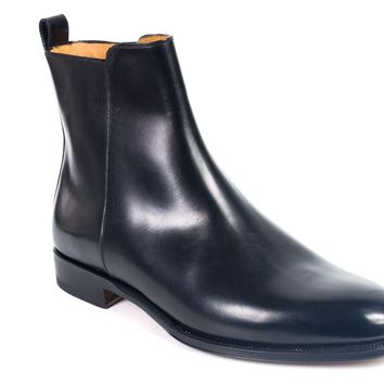 Valentino Mens Black Leather Chelsea Ankle Boots