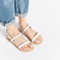ASOS FlORIDA Wide Fit Leather Flat Sandals