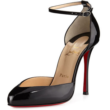 Christian Louboutin Dollyla Patent 100mm Red Sole Pump, Black