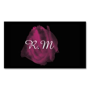 Beautiful Classy Watercolor Monogram Double-Sided Standard Business Cards (Pack Of 100)