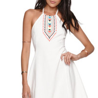Kendall and Kylie Fit and Flare Halter Dress at PacSun.com