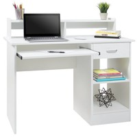 Best Choice Products Computer Desk Home Laptop Table College Home Office Furniture Work Station White - Walmart.com