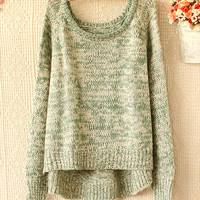 Design and color round neckline turtleneck sweater sweater
