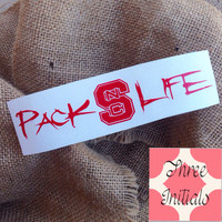 NC state pack life wolfpack north carolina state salt life decal sticker salt life state sticker north carolina wolf pack decal pack life