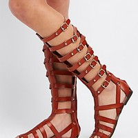 MADDEN GIRL BUCKLED GLADIATOR SANDALS
