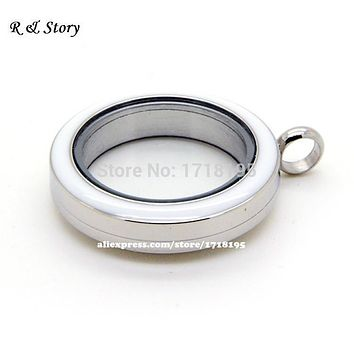 30mm Screw Twist 316L Stainless Steel Floating Locket Pendant. Memory Locket Necklace for Floating Charms. LFL_015
