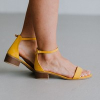 Kemmy Sandal - Yellow Suede