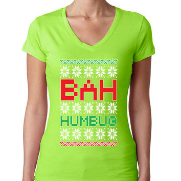 Bah Humbug christmas Women's Sporty V shirt