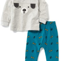 Puppy Tee & Printed Pants Set for Baby | Old Navy