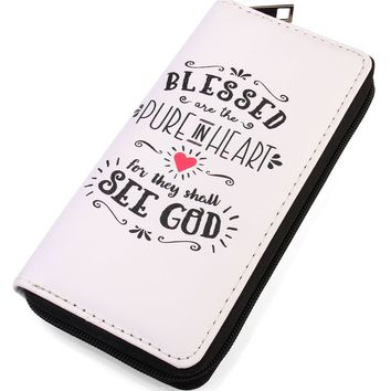 Blessed See God Zipper Wallet