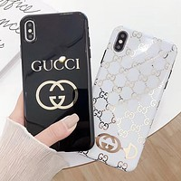 GUCCI Fashion Women Men Phone Cover Case For iphone 6 6s 6plus 6s-plus 7 7plus iPhone8 iPhone X XR XS XS MAX