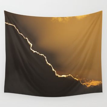 """Sunline and clouds"" Wall Tapestry by Guido Montañés"