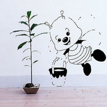 KID WALL VINYL DECAL STICKER BABY ROOM NURSERY BEDROOM FUNNY BEE BUG  M32