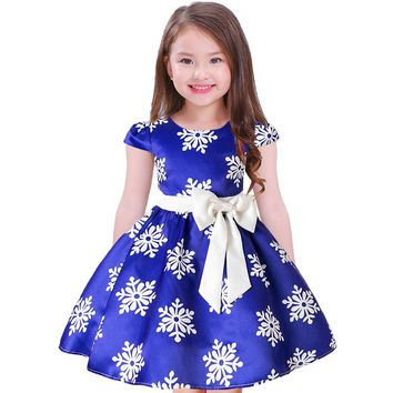 Girl Snow Flake Party Dress