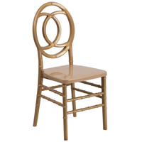 Flash Furniture HERCULES INDESTRUCTO Series Gold Resin Royal Stacking Chair [BH-ROYAL-GD-GG]