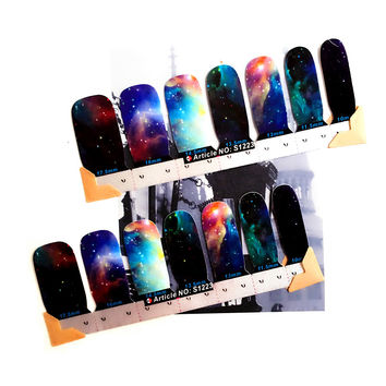 30 style Nail Wraps Stickers Marvelous Space Universe Designs Waterproof Nail Arts Polish Gel Foils Keep 2-3 weeks