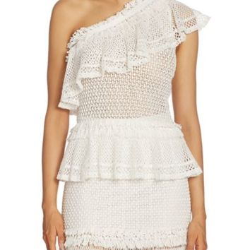 Jonathan Simkhai - Ruffled Cotton Crochet Skirt
