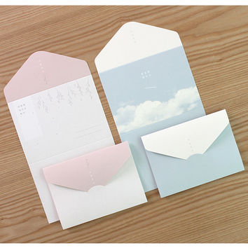 Large Sky Breeze Star Poem folding letter set