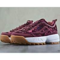 FILA Disruptor II 2 generations of large sawtooth thickened increase repair legs jogging shoes F-PSXY