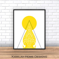 Abstract Art Print,Yellow Printable Art, Geometric Print, Minimalist Poster, Scandinavian Design, Abstract Wall Art, Digital Download