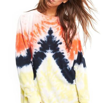 WILDFOX | Burst Tie Dye Roadtrip Sweatshirt