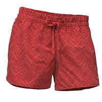 Women's Class V Shorts in Sunbaked Red Chevron Print by The North Face