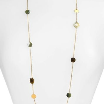 Tory Burch Colorblock Rosary Station Necklace | Nordstrom