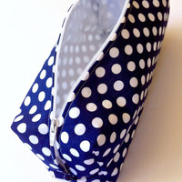 Polka Dot Pencil Case/ Cosmetic Case