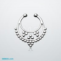 Classic Royal Filigree Fake Septum Clip-On Ring