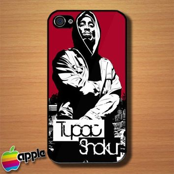 Tupac Shakur in Juice Custom iPhone 4 or 4S Case Cover