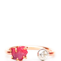 Pink Spinel & White Sapphire Ring