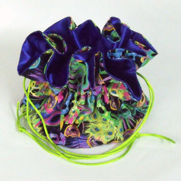 Jewelry  Drawstring Tote, Pouch Organizer Brothers and Sisters Large