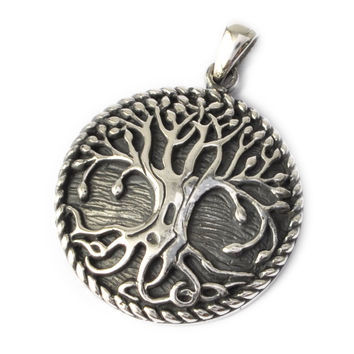 Vietguild's 92.5 Sterling Silver Celtic Tree of Life Pendant Charm