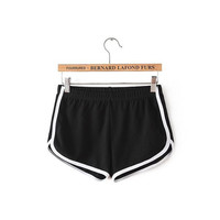 Elastic Waist Contrast Trim Sport Shorts