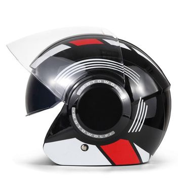 HEROBIKER Filp-Up Double Visor Futuristic DOT Approved Motorcycle Helmet