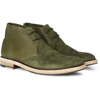 Acne Pedro Burnished Leather and Suede Desert Boots | MR PORTER