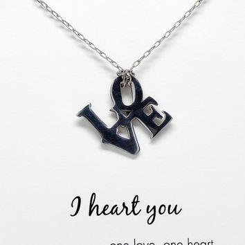 Zoe I Heart You Necklace with Love Pendant
