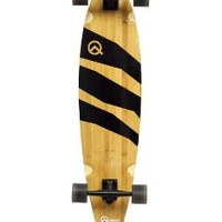 Quest Epic Classic Pintail Bamboo Longboard Skateboard, 40-Inch