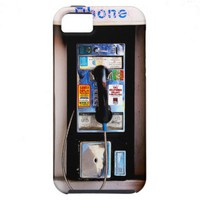 Funny New York Public Pay Phone Photograph iPhone 5 Cases from Zazzle.com